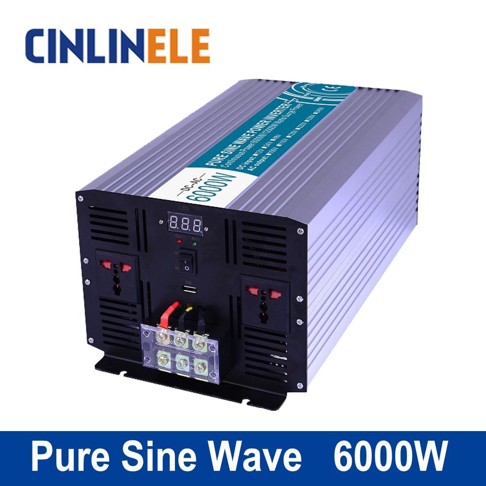 Pure Sine Wave Inverter 8000W CLP8000A DC 12V 24V 48V to AC 110V 220V 8000w Surge Power 16000W pure sine wave inverter 5000w clp5000a dc 12v 24v 48v to ac 110v 220v 5000w surge power 10000w
