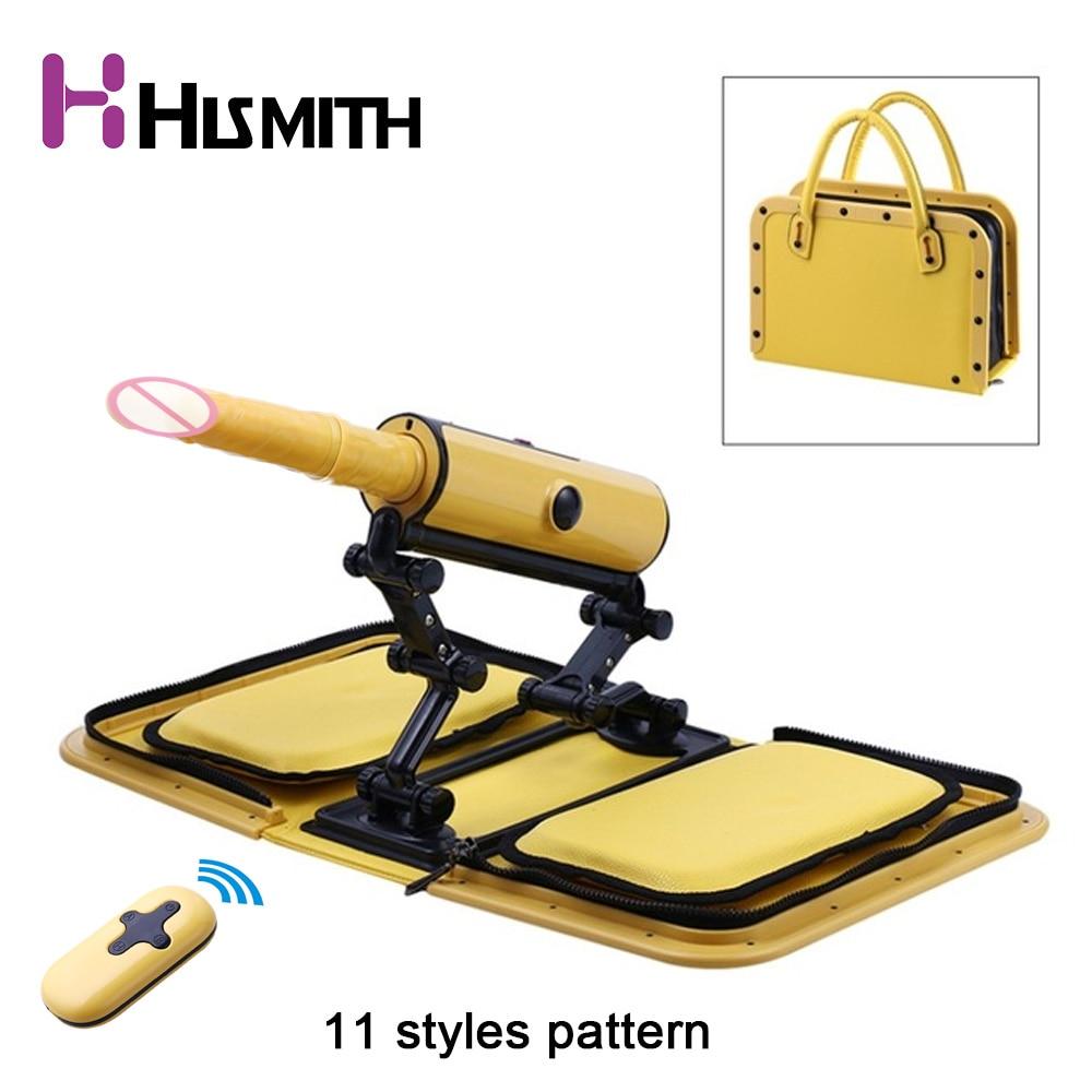 Buy 11 Styles Remote Portable Sex Machine Gun Big Dildo Female Masturbation Automatic Women Masturbator Love Machine Women Toys