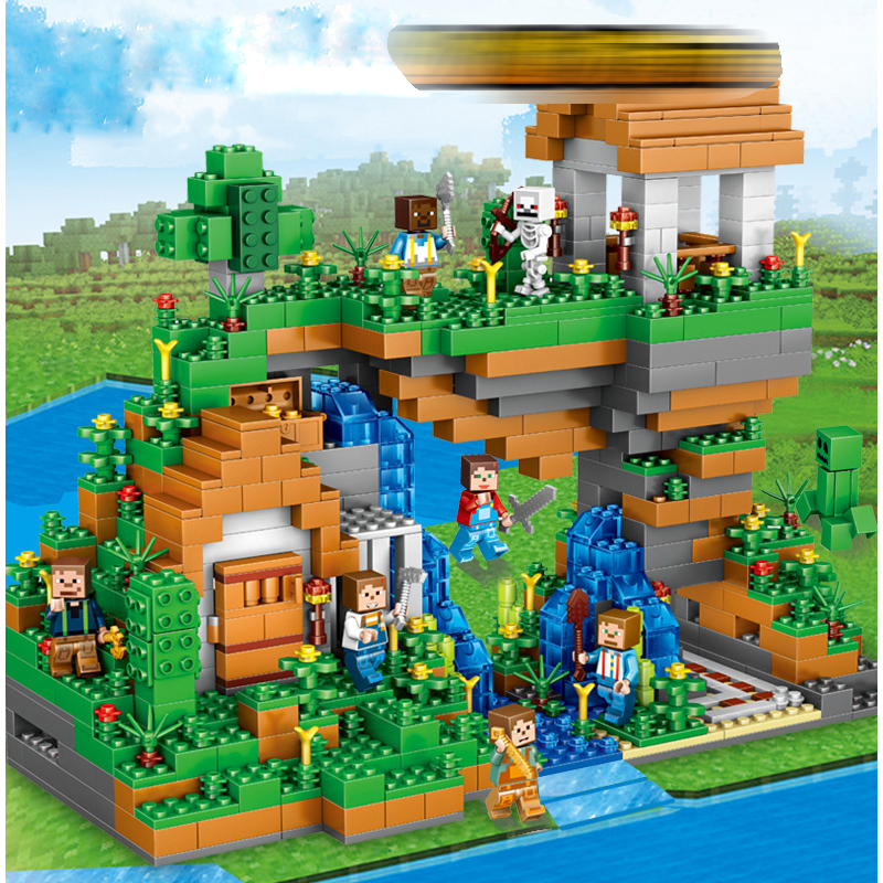 957pcs ABS Plastic Blocks Figures Toy For Kids Compatible With Legoing Minecraft City Building Blocks Set Education Boy Gift qunlong minecraft abs plastic building blocks action figures for kids compatible legoe minecraft city educational boy girl toy
