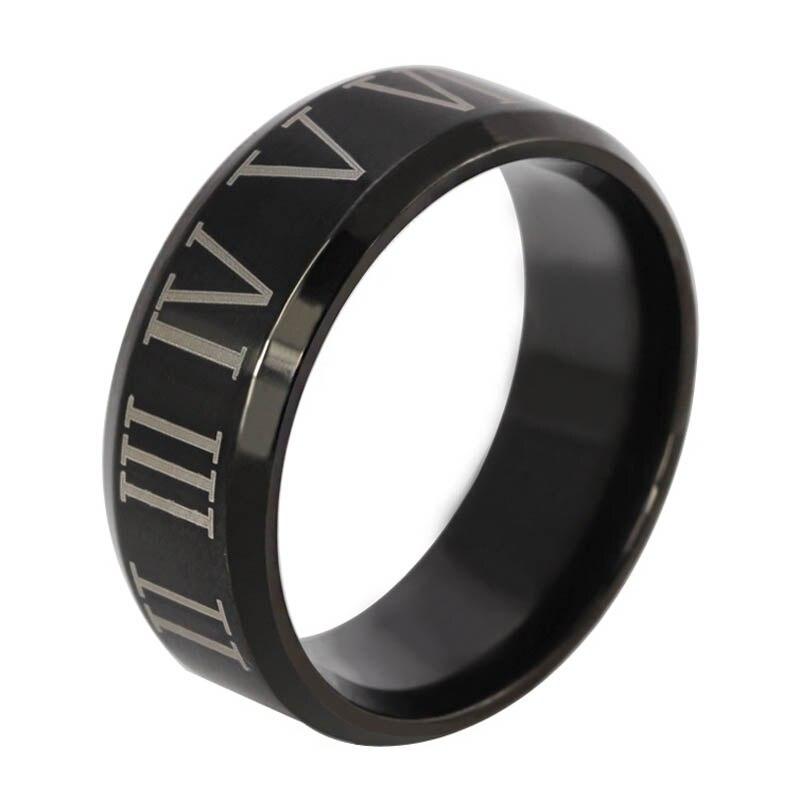 roman numerals rings for men stainless steel mens rings design fashion party guy gift ocn0252 - Guys Wedding Rings