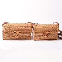 Handmade Woven Circular Beach Bags Round Straw Summer Style Women Handbags Bohemian Rattan Crossbody