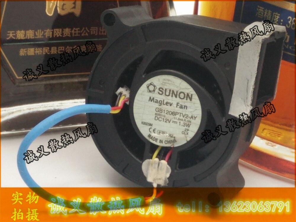 Free shipping GM1206PTV2-AY 12V 1.3W 6cm 60mm sunon gm tech2 vetronix full set diagnostic tool gm tech2 scanner for saab gm opel isuzu suzuki holden dhl free shipping