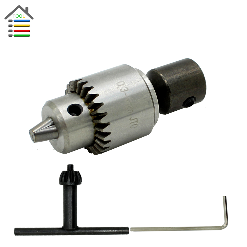 Professional 0 3 4mm Jt0 Drill Chuck Mount With 5mm Steel