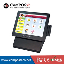POS System 12 Inch Touch Screen Monitor In Restaurant Cash Register With Printer Card Reader Cash Drawer VFD