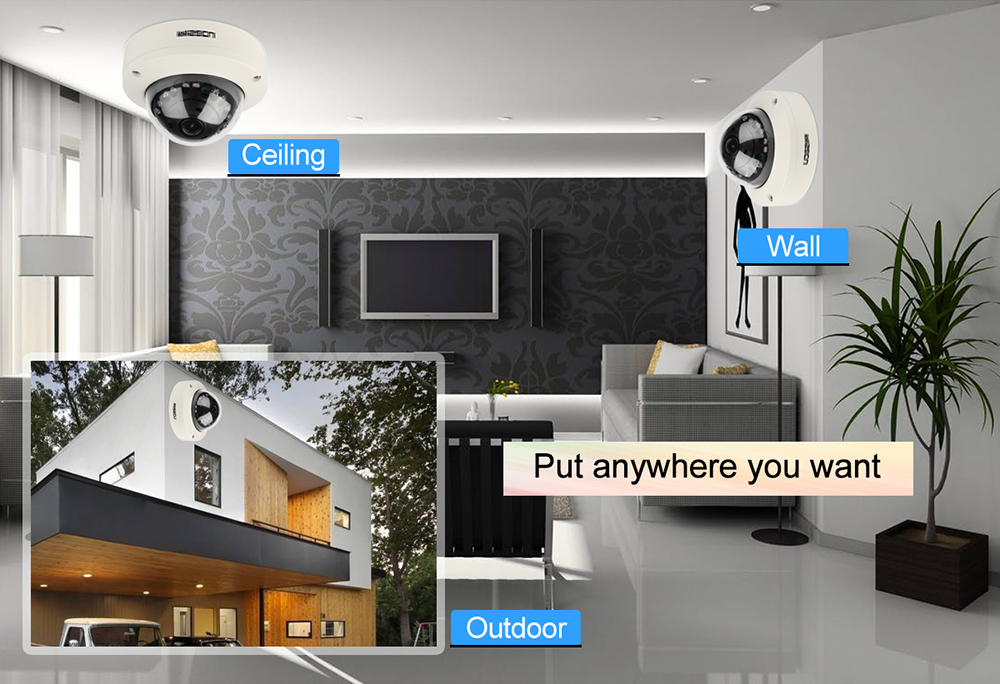 Image 5 - MISECU 2.8mm Vandalproof 1080P 960P 720P H.265/H.264 48V POE Camera Metal Dome Onvif P2P Motion Detect RTSP Email Alert CCTV-in Surveillance Cameras from Security & Protection