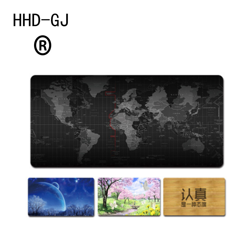 HHD-GJ 2018 New Cartoon Map Mouse Pad Large Pad for Mouse Notbook Computer Mousepad Gaming Mouse Mats for Mouse Game