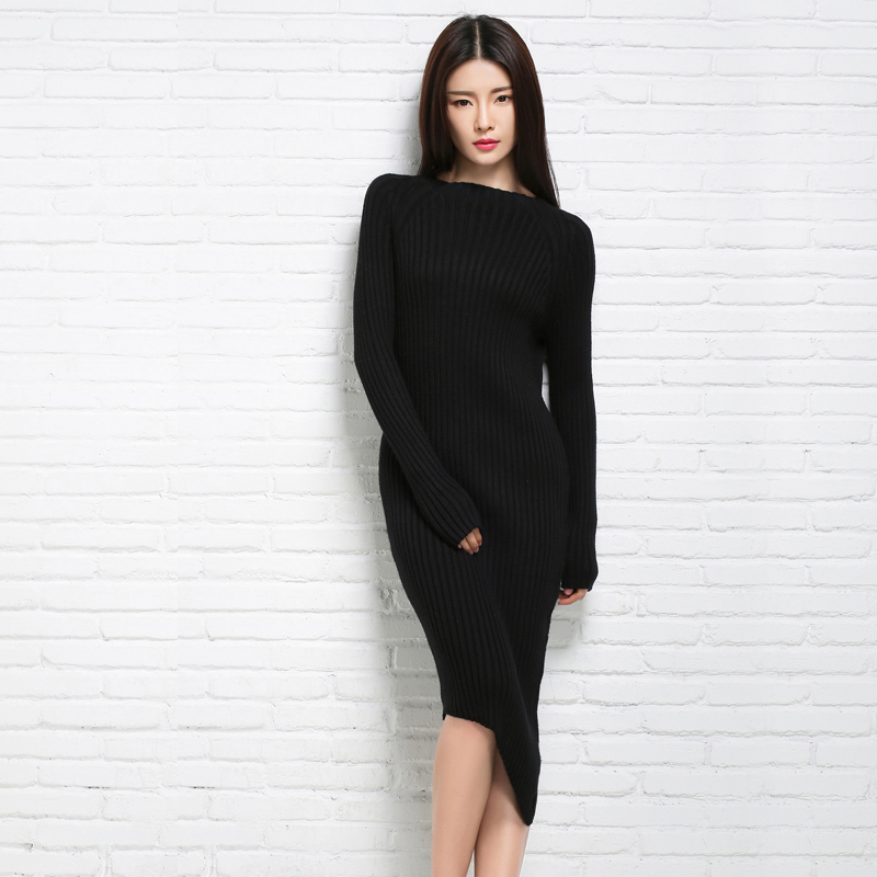 2018 adohon Fashion Women Sweaters and Pullovers Sueter Femme Winter Knitted Cashmere Wool Knitwear Dresses Oversized