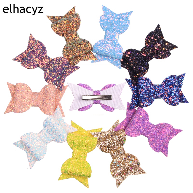 5 39 39 Boutique Bowknot Princess Hairgrips Glitter Hair Bows with Clip Dance Party Bow Hair Clip Girls Hairpins Hair Accessories in Hair Accessories from Mother amp Kids