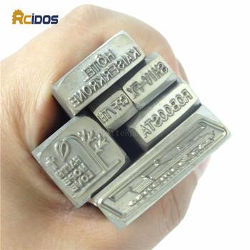 Indywidualny projekt biżuterii numer znaczek litery stalowe słowo stempel prefiks znaczek litery matryca stempla tanie i dobre opinie RCIDOS CN (pochodzenie) steel stamp