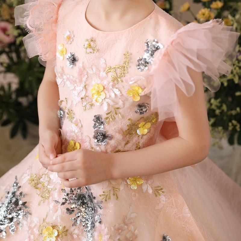 Fleur mère fille robes vêtements de mariage maman et fille robe robe de bal maman filles robe de soirée famille correspondant tenues - 5