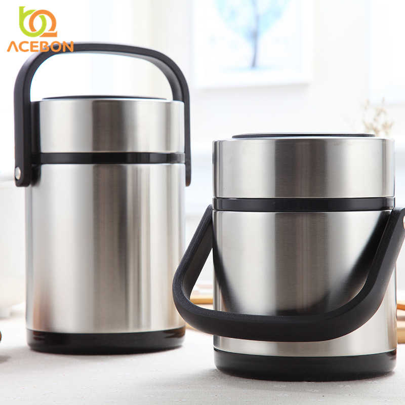 3 Layer Portable Stainless Steel Thermal Lunch Box For Office Lunchbox Leakproof Thermos Lunch Box Food Container 1600ML 2000ML