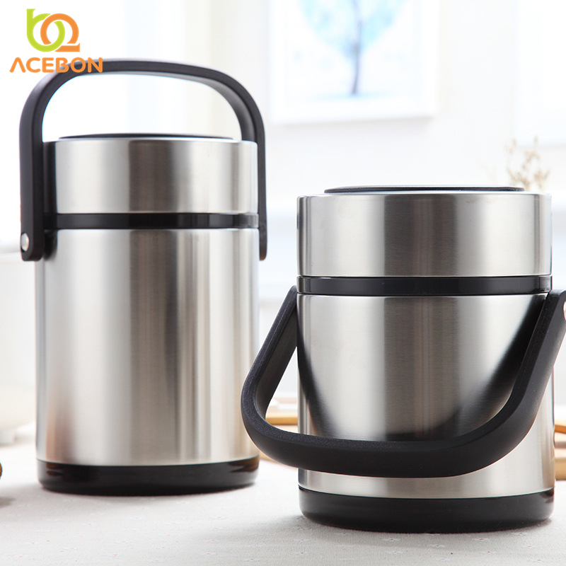 3 Layer Portable Stainless Steel Thermal Lunch Box For Office Lunchbox Leakproof Thermos Lunch Box Food <font><b>Container</b></font> 1600ML 2000ML image