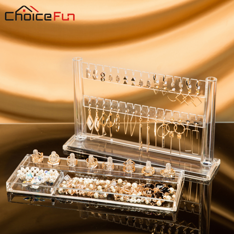 CHOICE FUN Modern DIY Clear Necklace Ring Accessories Earrings