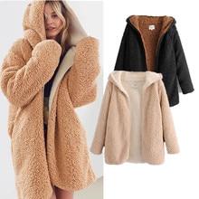 Kaguster 2019 fashion jacket women lambswool winter warm thick coat coats casual loose office lady streetwear jackets elegant