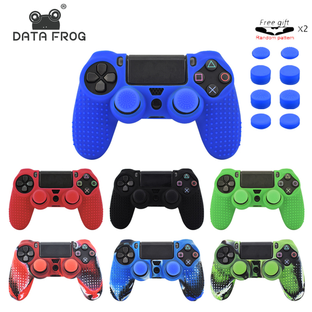 11 in 1 Studded Anti-slip Silicone Cover Skin Case for PS4 Controller Sony PlayStation Dualshock 4 Slim Pro & Stick Grip