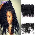 Brazilian Deep Curly With Frontal 4 Bundles Deep Curly Brazilian Virgin Hair With Frontal Closure Curly Human Hair With Closure