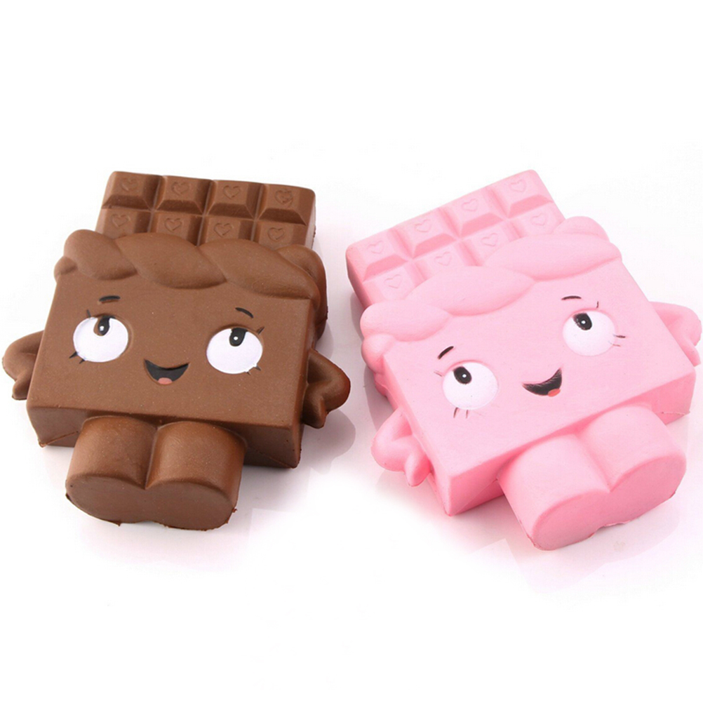 2018 New Arrival 13cm Jumbo Chocolate Boy Girl Squishy Soft Slow Rising Scented Gift Fun Toy Mobile Phone Strapes ZJD