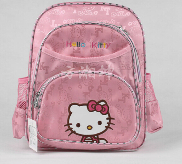 new hello kitty kids backpack cartoon cute girls school bags pink school  bags for teenagers 56424c556d132