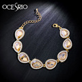 Brand Luxury Gold Plated Bracelets for Women crystal chain link bracelets bangles bijoux blue bracelet femme jewelry brt-j71