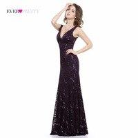 Sexy Prom Dresses Sequined Ever Pretty HE08855 Deep V Neck Natural Waist Sparkle Floor Length Special