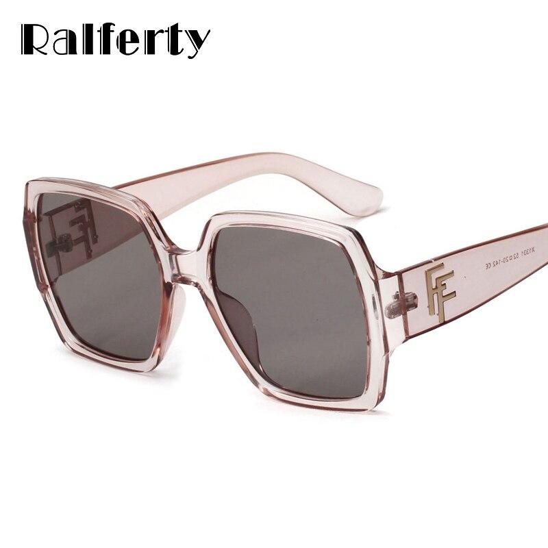 05ea916e5c Ralferty sobredimensionado cuadrado gafas de sol mujer marca diseñador  marco grande Anti-reflectante gafas de sol UV400 gafas tonos Oculo X1331