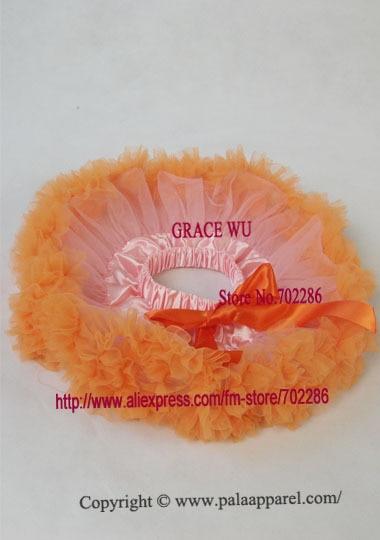 Детская балетная юбка, пачка младенческой юбки-пачки пачка recien nacido детская юбка с рюшами розовый шифон - Цвет: orange  ruffled