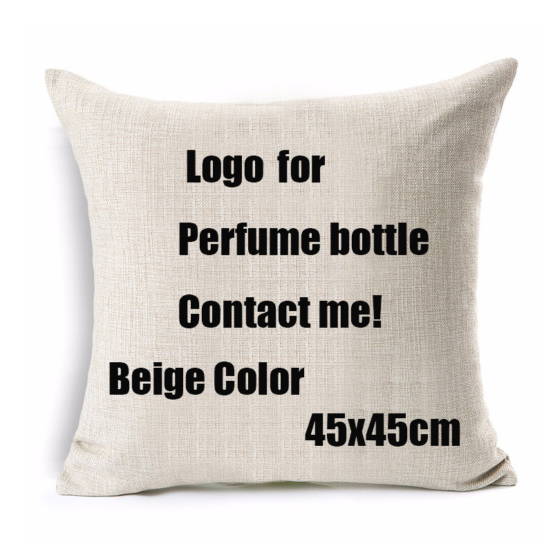 Decorative Throw Pillows Case Logo For Paris Perfume Bottle Channel Cushion Cover For Sofa Home Decor