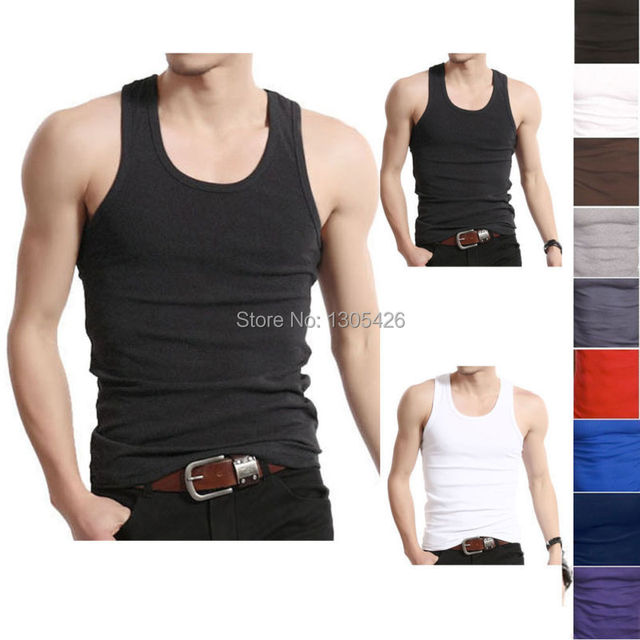 ab3248c70b2256 Muscle Men Top Quality A-Shirt Wife Beater Ribbed 100% Premium Tank Top  w