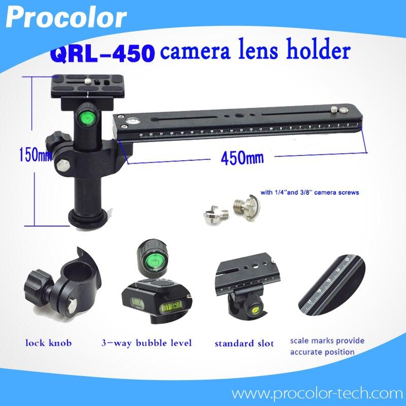 """bilder für QRL-450 Stabile Birding Teleobjektiv Halterung Mit Klemmplatte Länge 450 MM Schnittstelle Schraube 1/4 """"-3/8 zoll"""