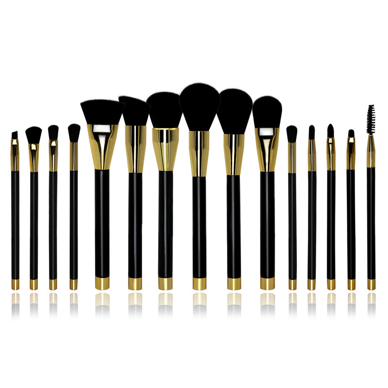 15pcs/Sets Europe And The United States Selling Solid Color Makeup Brush Fiber Bristles Makeup Brush Suit make - up Beauty Tools 7pcs sets new europe and the united states selling liquid flash makeup brush set flow flash unicorn makeup brush fantasy mermaid