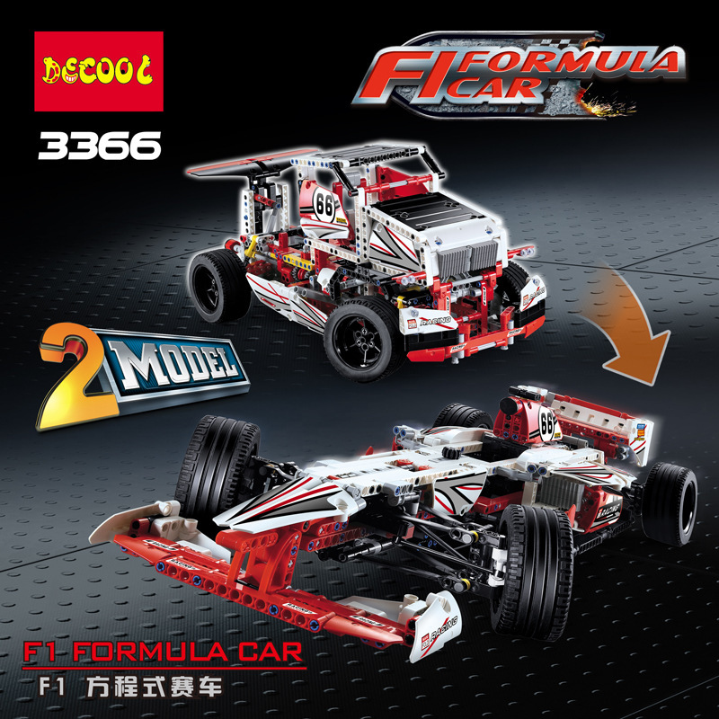 decool 3366 Grand Prix Racer 42000 model building blocks brick boys Toys children Compatible legoe technic kid gift set