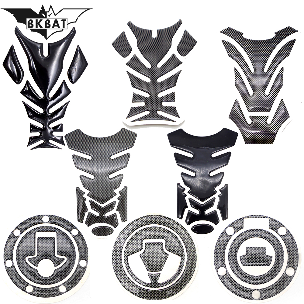 Motorcycle Tank Sticker Decals 3D Carbon Fiber Pad Motobike Protect FOR BAJAJ PULSAR 200 NS