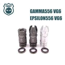14mm ccw linha gama epsilon 556 vg6 flash hider nenhuma função focinho dispositivo para airsoft aeg gen9 j9 água gel bola blaster