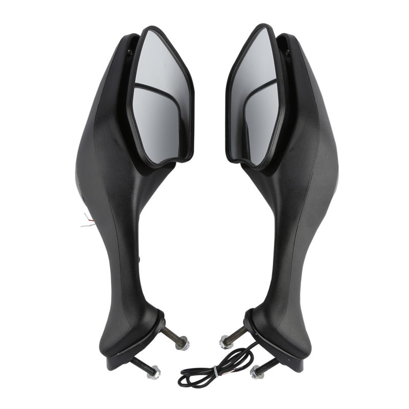 Black Rear View Mirrors W/ Turn Signals For Honda CBR 1000 RR CBR1000 2008-2012 09 10 11 12