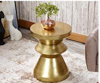 Creative furniture by the sofa, modern corner table, modern corner table, stylish round table, mini tea table.