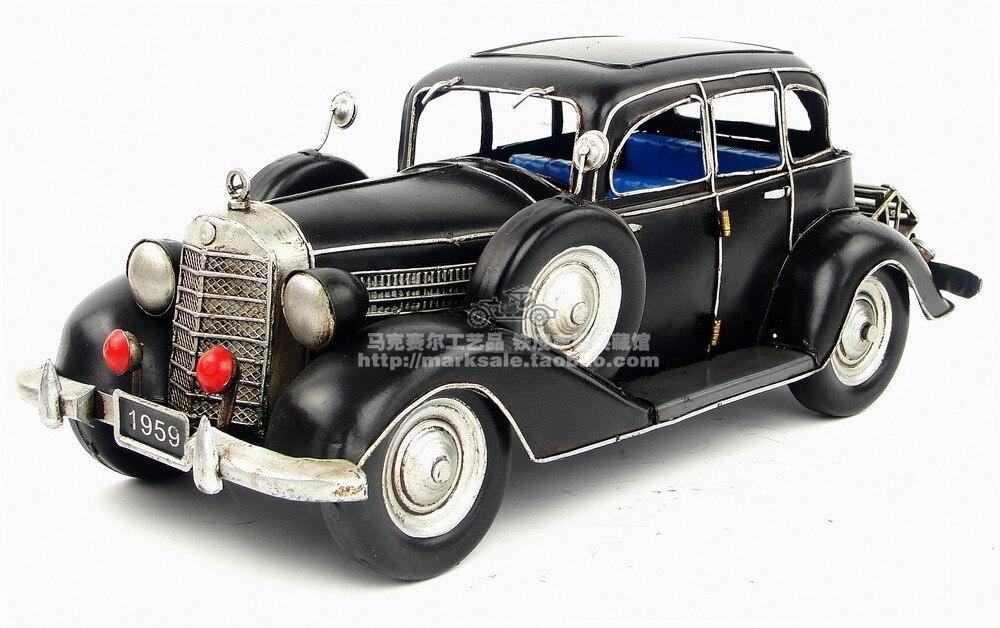Ev ve Bahçe'ten Heykelcikler ve Minyatürler'de Vintage 1926 260D Ev Mobilya mg demir nostaljik araba dekorasyon el sanatları hediyeler yaratıcı ev mobilyası teneke araba ha'da  Grup 1