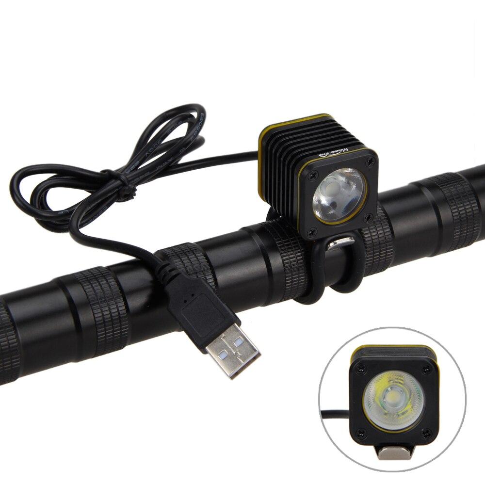 MINI USB 4 modos 5000lm XM-L T6 LED LUZ de LA BICICLETA LINTERNA FRONTAL Luz de