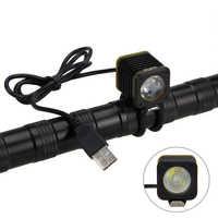 MINI USB 5000lm 4 modes XM-L T6 LED vélo lumière tête torche vélo lumière phare lampe de montagne