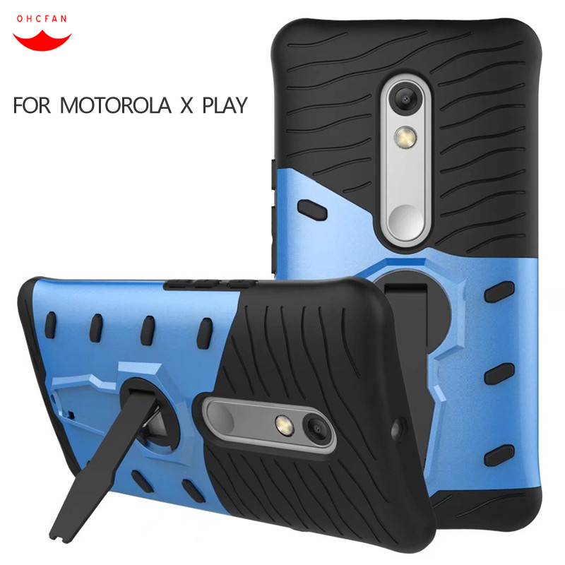 Case For Motorola Moto X Play XT1561 XT1562 5.5 Shockproof Hybrid PC Silicone 360 Rotate Armor Phone cases for Moto X Play Cove