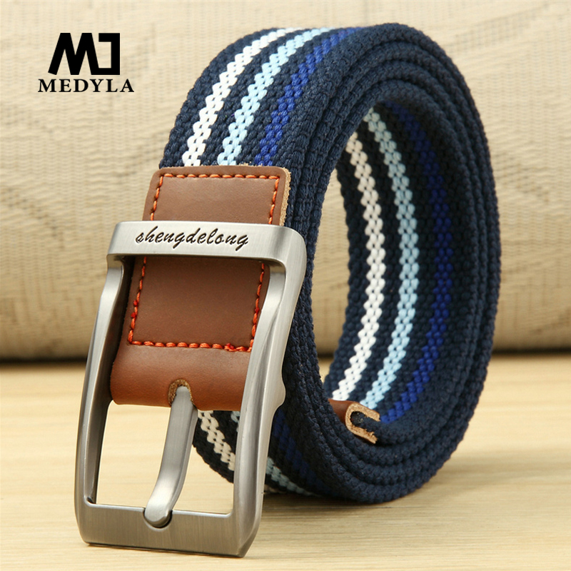 MEDYLA Canvas   belt   men's needle buckles canvas   belts   young students' military training   belts   casual pants   belts   2018 new style