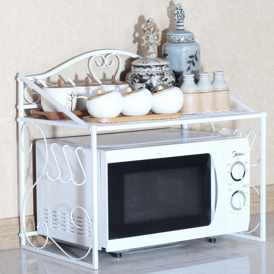 hierro cocina rack de organizador para cocina microondas horno bastidores estante de mltiples capas de de condimentos horno with estante para cocina