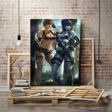 Overwatch Sexy Widowmaker and Tracer Picture Modern Artwork Home Decor Wall Top-Rated Canvas Print Type 1 Piece Game Poster 5 piece blue sky nature rocks road landscape picture top rated canvas print type wall decor valley of fire state park poster