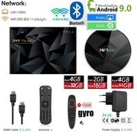 HK1 MINI plus Android 9.0 TV BOX 2G 16G/4GB 64GB/32G rock chip RK3318 2.4G/5G WIFI HEVC 4K 3D bluetooth optional air mouse