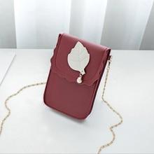 2019 New Women Crossbody Bags Cute Leaf Pattern Small Handbags for Ladies Leather Messenger Designer Shoulder Bag bolsa fem