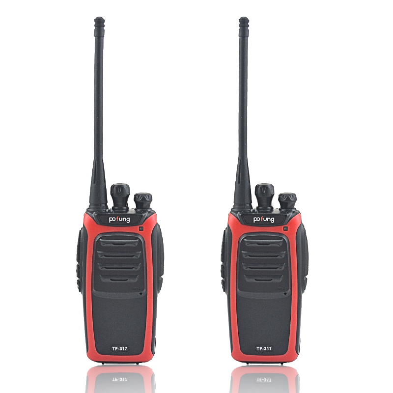 2pcs/lot Pofung TF-317 Walkie Talkie UHF 400-480MHz 16 Channel Portable Two Way Radio