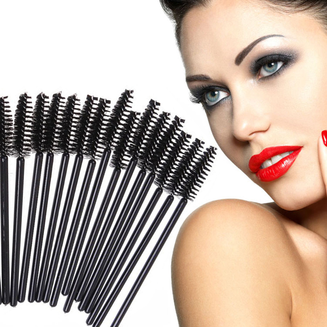 50Pcs/Pack Disposable Micro Eyelash Brushes Mascara Wands Applicator Wand Brushes Eyelash Comb Brushes Spoolers Makeup Tool Kit