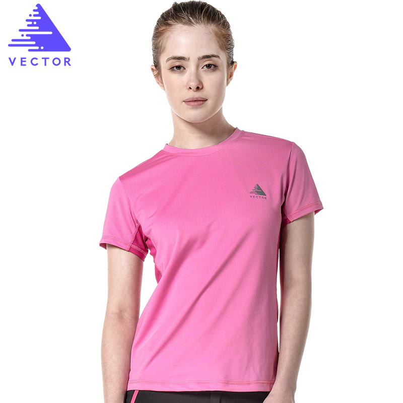 VECTOR Brand Quick Dry Shirt Women Short Sleeve Breathable Summer Outdoor T-Shirt Coolmax Sport Run Climbing Hiking TXD10025
