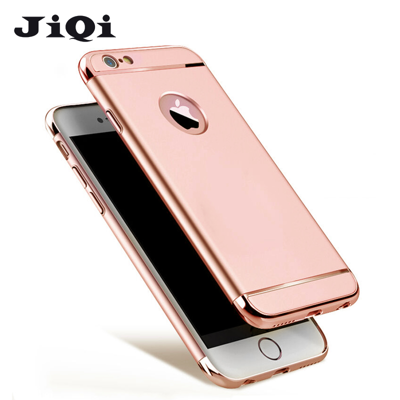 For iPhone 6 6s Plus Case Cover 3 in 1 rose gold luxe thin back hard