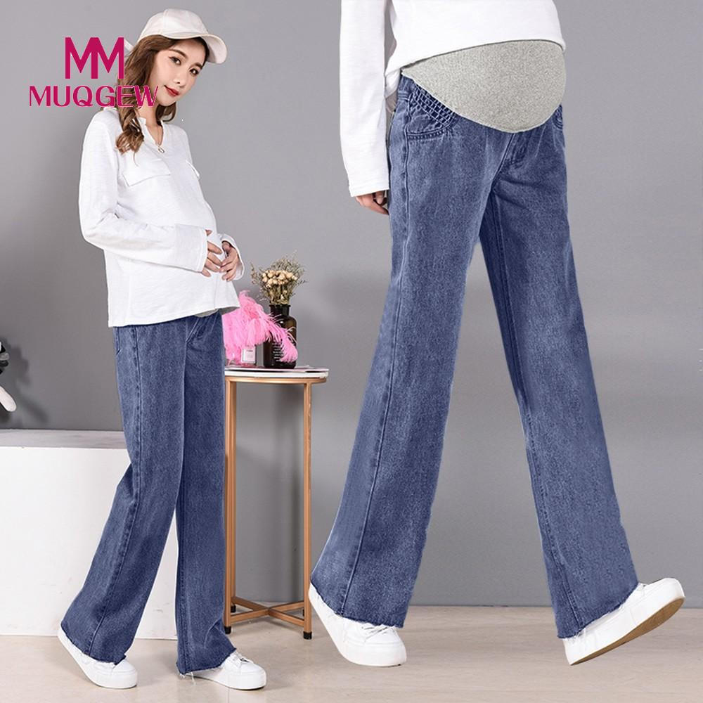 599d622a6b037 MUQGEW 2019 Pregnant Woman Ripped Jeans Maternity Pants Trousers Nursing  Prop Belly clothing leggings for pregnant wear #EW