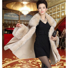 Long Fashion Luxury Faux Fur Overcoat Shawl Cape Knitwear